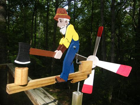 man chopping wood whirligig cedar pt pine painted ready
