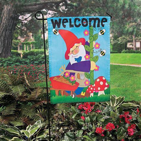 gnome garden yard flag 18 quot nip ebay