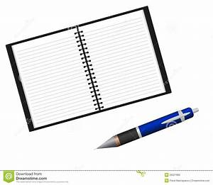 Pen And Notebook Clipart - ClipartXtras