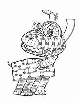 Neutron Jimmy Coloring Pages Books Robot Popular sketch template