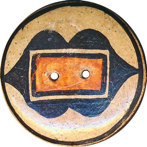 Early 20th Century Zia Pueblo Button Large Early 20th C Zia Pueblo Pottery