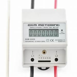Kilowatt Hour Kwh Sub Meter 120 240v 100a 3