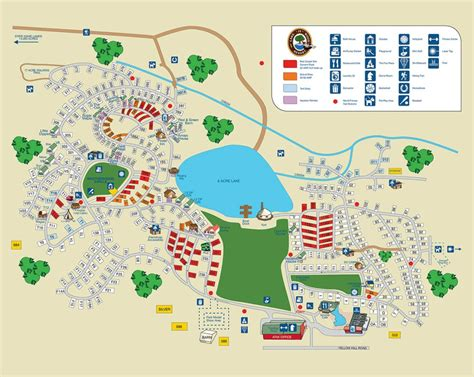 Site Map  Lake In Wood Campground
