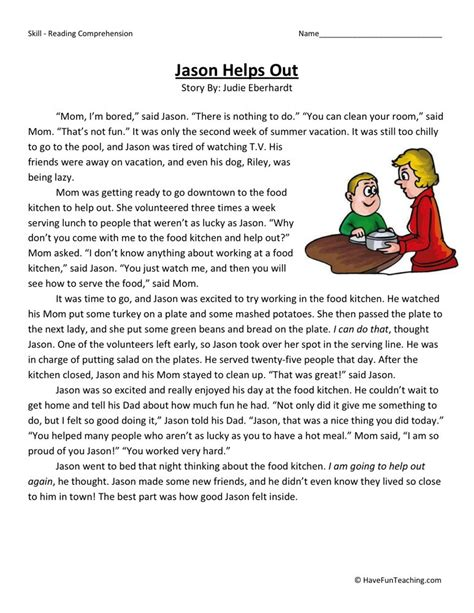 reading comprehension worksheet 3rd grade search results