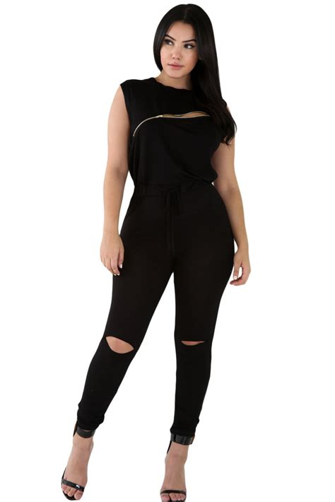 jumpsuit bodycon 2016 summer fashion bodycon jumpsuit o neck sleeveless