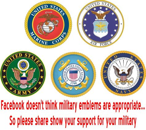 emblems military emblem army navy states united branches marine force service branch snopes appropriate corps air think veterans history did