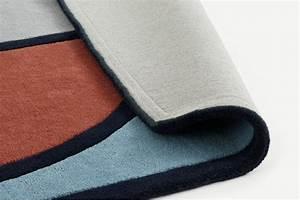Supermundane Shaped Wool Rug  Large 160 X 230cm  Blue