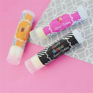 personalized birthday lip balm tubes With custom chapstick tubes
