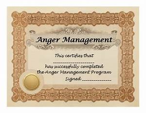 anger management programs With anger management certificate template