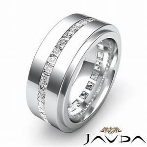 Men39s eternity wedding band channel set princess diamond for Chanel mens wedding rings