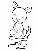 Kangaroo Coloring Baby Pages Printable Koala Kangaroos Tree Clipart Cartoon Sheets Drawing Animal Clipartpanda Clipartmag Getcolorings Craft Pa Pouch Australian sketch template