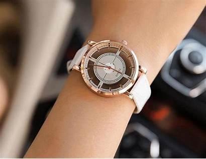 Luxury Watches Leather Ladies Skeleton Womens Gift