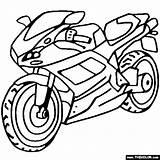 Coloring Ducati Motorcycles Bike Sportbike Dirt Motocross Motorcycle sketch template