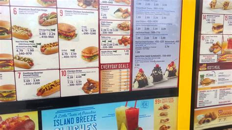 Sonic Drive In - Menu Prices and Calories in 1080p - YouTube