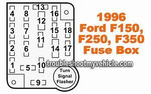 1996 F150  F250  F350 Instrument Panel Fuse Box  Ford 4 9l