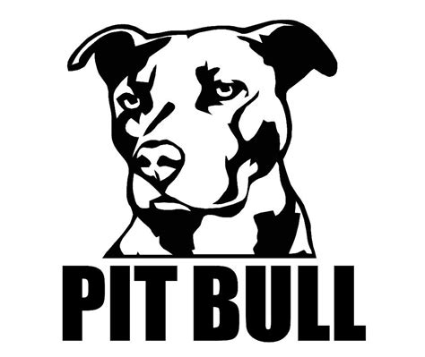 pit clipart black and white images of pit bull silhouettes search bully