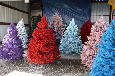Artificial Christmas Tree Flocking Spray by Funky Festive And Fabulous Christmas Trees On The West