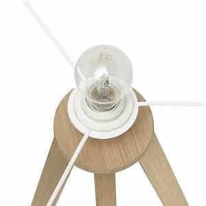 Lampe Sur Pied Scandinave : lampe sur pied de style scandinave trani en tissu blanc naturel fran ais french ~ Teatrodelosmanantiales.com Idées de Décoration