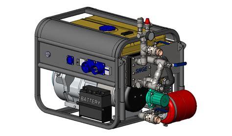 HeatElectric Generator. МИКРОТЭЦ. 3D CAD Model Library . GrabCAD