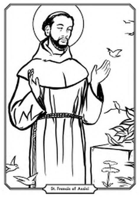 saint francis preschool free catholic saints coloring pages for 732
