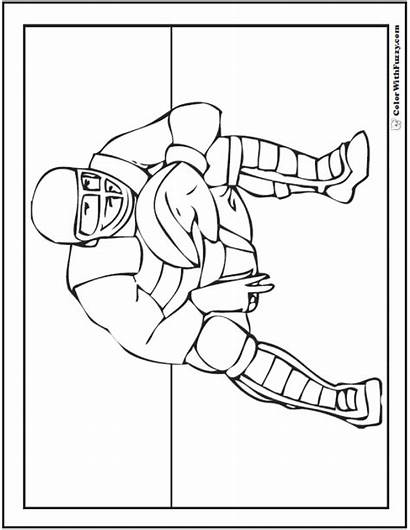 Baseball Coloring Pages Catcher Printable Catchers Pdf