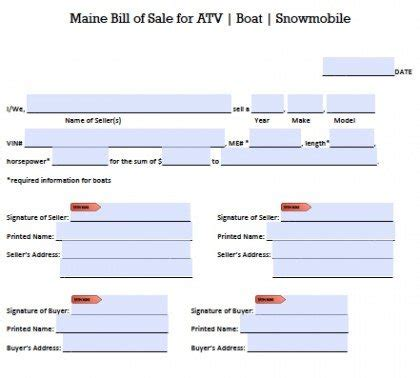 Boat Bill Of Sale Maine by Pin Free Boat Bill Of Sale Form Image Search Results On