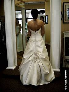 ribbons and ruffles bustles With wedding dress bustle