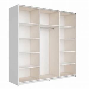 Console Miroir Pas Cher : best armoire 220 cm blanc brillant et miroir achat vente armoire de chambre pas cher couleur ~ Teatrodelosmanantiales.com Idées de Décoration