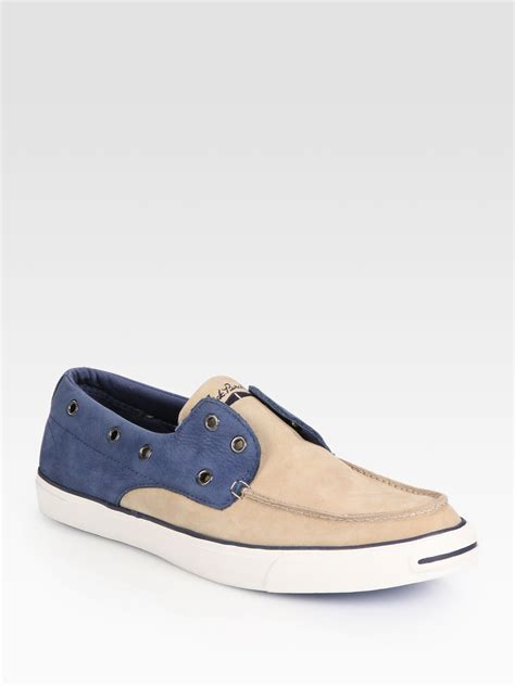 Converse Boat Shoes by Converse Purcell Twotone Laceless Boat Shoes In