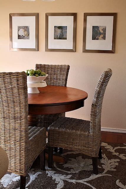 round table with pier one chairs wicker pinterest