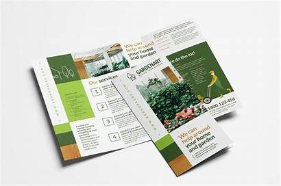 Fold Tri Brochure Template Landscaper Psd Vector