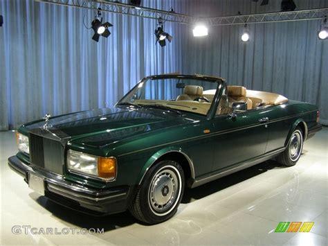 green rolls royce 1990 green rolls royce silver spirit ii custom convertible
