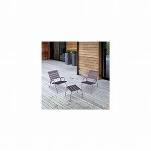 Table Basse Salon De Jardin : salon de jardin fermob monceau 1 table basse 2 fauteuils plantes et jardins ~ Teatrodelosmanantiales.com Idées de Décoration