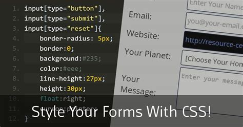 style  forms  css  css tutorial