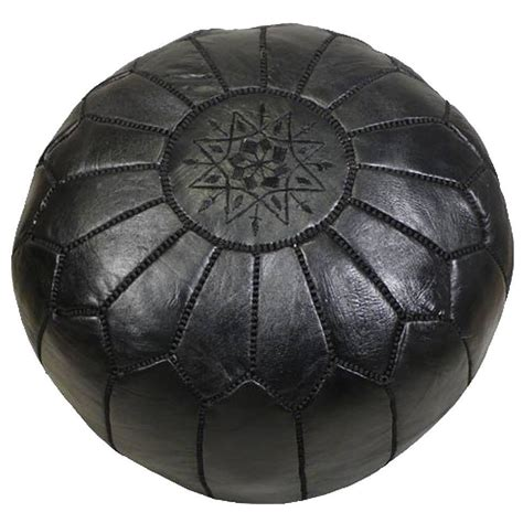 moroccan pouf ottoman handmade moroccan leather foot stool or pouf at 1stdibs