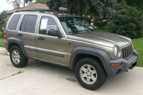 beige jeep liberty purchase used 2004 jeep liberty tan 4x4 p235 wide on off