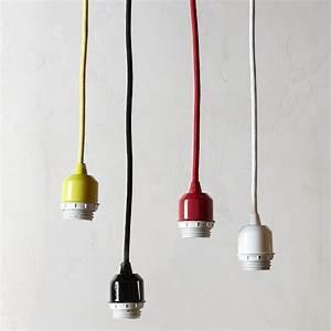 pendant cord set modern pendant lighting by west elm With floor lamp cord set