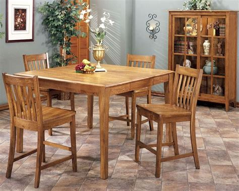 kitchen table light height intercon solid oak counter height dining set cambridge
