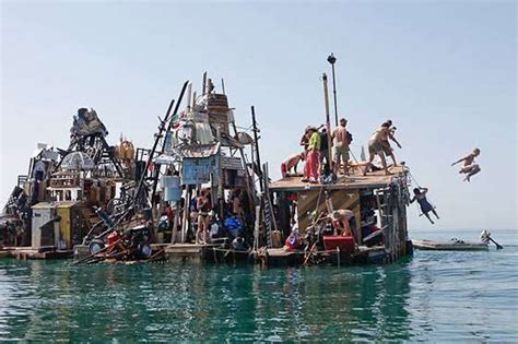 Trash Boat Ideas by Pirate Nomads Artist Swoon Recycles Trash Into A Floating