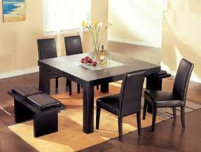 Dining Room Table Sets Contemporary Wenge Wood Middle Frosted Glass Dining Table Set Dining Room Sets