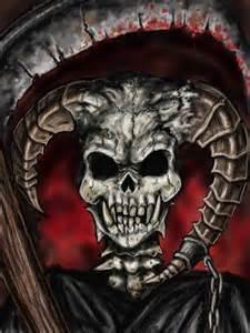 Grim Reaper Skull Drawings