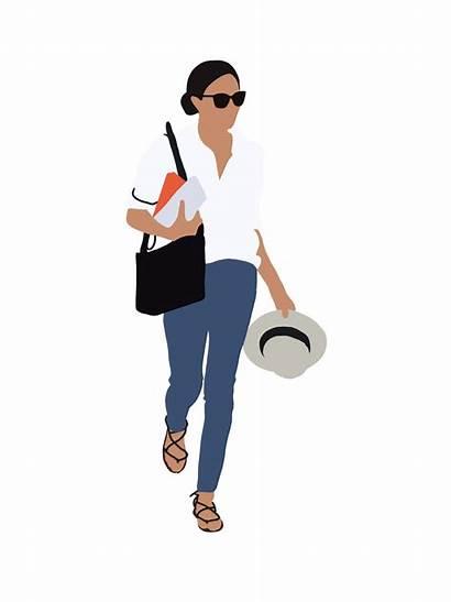 Woman Person Flat Vektor Behance Ai Clipart