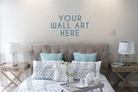 bedroom wall art mock  product mockups creative