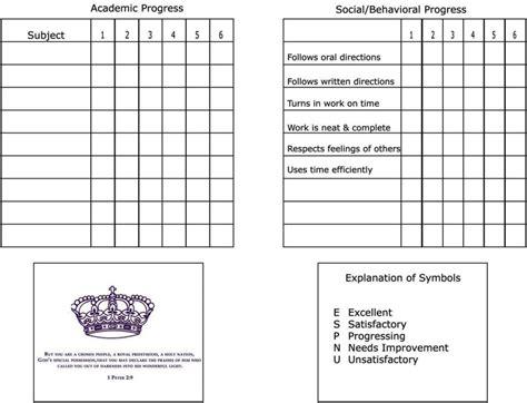 high school report card template  sampletemplatess