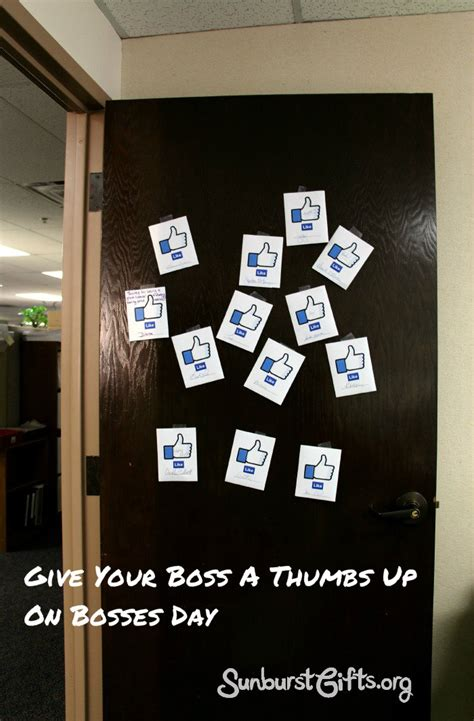 give your boss a thumbs up on bosses day thoughtful
