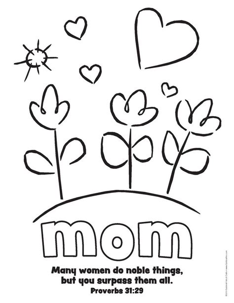 simple mothers day printable  prov  bible verse