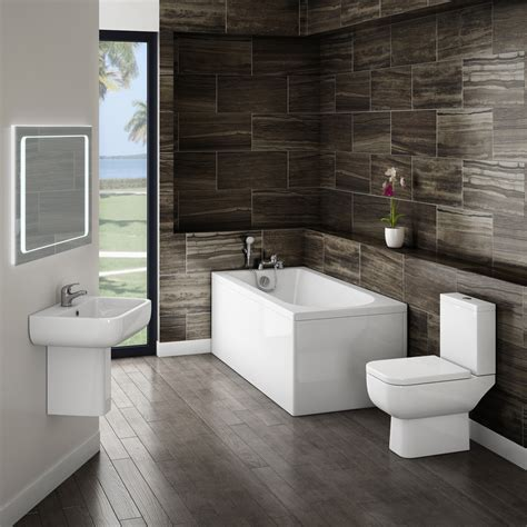 Small Modern Bathroom Suite At Victorian Plumbing Uk
