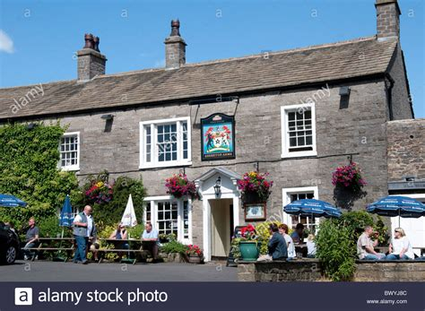 The Assheton Arms the village of Downham Pendle Hill area in Stock Photo - Alamy