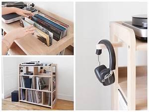 Meuble Pour Vinyle : ranger ses vinyles s lection meuble vinyle rangement pour mes platines blog d co clem ~ Teatrodelosmanantiales.com Idées de Décoration