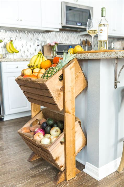 DIY Two-Tier Wood Produce Stand   KENDALL-JACKSON